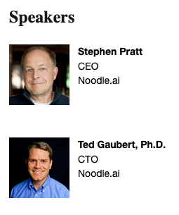 Steve Pratt and Ted Gaubert
